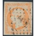 FRANCE - 1853 40c orange Emperor Napoléon, imperforate, used – Michel # 15a