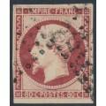 FRANCE - 1853 80c carmine Emperor Napoléon, imperforate, used – Michel # 16a
