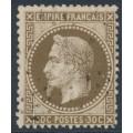 FRANCE - 1862 30c deep brown Emperor Napoléon with laurel wreath, perf. 14:13½, used – Michel # 29b