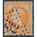 FRANCE - 1868 40c orange Emperor Napoléon with laurel wreath, perf. 14:13½, used – Michel # 30