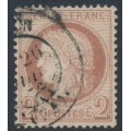 FRANCE - 1872 2c red-brown Cérès, perf. 14:13½, used – Michel # 46