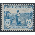 FRANCE - 1917 25c+15c blue War Orphans Charity, MH – Michel # 131