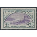 FRANCE - 1917 35c+15c green/violet War Orphans Charity, used – Michel # 132