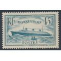 FRANCE - 1936 1.50Fr pale blue Normandie, MH – Michel # 316
