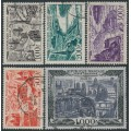 FRANCE - 1949-1950 100Fr to 1000Fr Airmail set of 5, used – Michel # 861-865