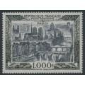 FRANCE - 1950 1000Fr grey-black/black on bluish paper Airmail, MH – Michel # 865