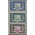 MONACO - 1949 300Fr to 1000Fr Airmail set of 3, MNH – Michel # 394-396