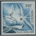 MONACO - 1957 100Fr black/blue Bird Airmail, perf. 13:13, MNH – Michel # 502B