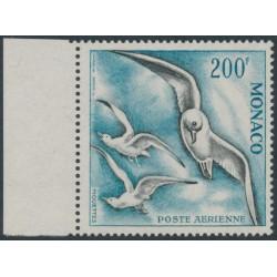 MONACO - 1957 200Fr blue/black Bird Airmail, perf. 13:13, MNH – Michel # 503B