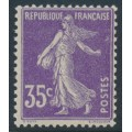 FRANCE - 1906 35c violet Semeuse (type I = thick numerals), MNH – Michel # 121I