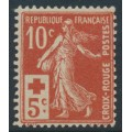 FRANCE - 1914 10c + 5c Semeuse Red Cross issue, MH – Michel # 126