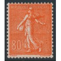 FRANCE - 1925 80c red Semeuse, MH – Michel # 166