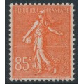 FRANCE - 1924 85c red Semeuse, MH – Michel # 167