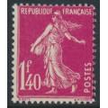 FRANCE - 1926 1.40Fr rose-red Semeuse, MH – Michel # 191