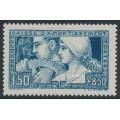 FRANCE - 1928 1.50Fr + 8.50Fr blue Caisse d'Amortissement, MH – Michel # 229