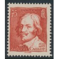 FRANCE - 1935 75c red Jacques Callot, MNH – Michel # 302