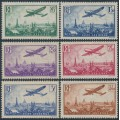 FRANCE - 1936 85c to 3.50Fr Airmail short set of 6, MH – Michel # 305-310