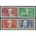 FRANCE - 1936 Famous Frenchmen set of 4, MH – Michel # 336-339