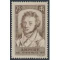 FRANCE - 1936 75c brown Ampère, MH – Michel # 313