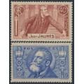 FRANCE - 1936 Jean Jaurès set of 2, MNH – Michel # 324-325