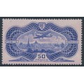 FRANCE - 1936 50Fr violet-blue/red Banknote Airmail, MH – Michel # 321