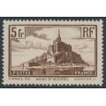 FRANCE - 1930 5Fr brown Mont St. Michel, perf. 13:13¼, MNH – Michel # 240a