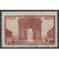 FRANCE - 1931 2Fr brown-red Arc de Triomphe, MH – Michel # 263