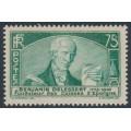 FRANCE - 1935 75c green Benjamin Delessert, MNH – Michel # 299