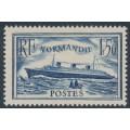 FRANCE - 1935 1.50Fr blue Normandie, MH – Michel # 297