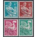FRANCE - 1954 4Fr to 24Fr Pre-Cancels set of 4, MNH – Michel # 991-994