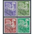 FRANCE - 1959 8Fr to 55Fr Pre-Cancels set of 4, MNH – Michel # 1235-1238