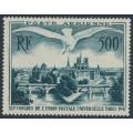 FRANCE - 1947 500Fr grey-green Seagull airmail, MH – Michel # 782