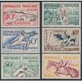 FRANCE - 1953 Sports set of 6, MNH – Michel # 978-983