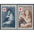 FRANCE - 1954 Red Cross set of 2, MNH – Michel # 1032-1033