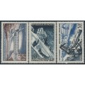 FRANCE - 1956 Technical Research set of 3, MNH – Michel # 1106-1108