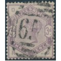 GREAT BRITAIN - 1884 3d lilac Queen Victoria, used - SG # 191