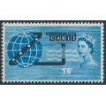 GREAT BRITAIN - 1963 1/6 blue/black COMPAC with phosphor bands, MNH – SG # 645p