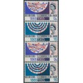 GREAT BRITAIN - 1965 ITU sets of 2 on normal and phosphor paper, MNH – SG # 683-684