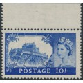 GREAT BRITAIN - 1955 10/- ultramarine Castle (Waterlow printing), MNH - SG # 538
