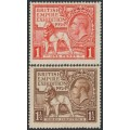 GREAT BRITAIN - 1924 British Empire Exhibition set of 2, mint hinged- SG # 430-431