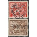 GREAT BRITAIN - 1924 British Empire Exhibition set of 2, used - SG # 430-431