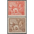 GREAT BRITAIN - 1925 British Empire Exhibition set of 2, mint hinged - SG # 432-433
