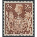 GREAT BRITAIN - 1939 2/6 brown KGVI Shield definitive, used - SG # 476