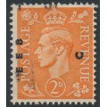 GREAT BRITAIN - 1942 2d pale orange KGVI definitive, sideways watermark, used – SG # 488a