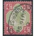 GREAT BRITAIN - 1887 4½d green/carmine QV Jubilee issue, used – SG # 206