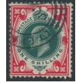GREAT BRITAIN - 1911 1/- deep green/scarlet KEVII, used – SG # 313