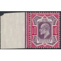 GREAT BRITAIN - 1912 10d dull reddish purple/carmine KEVII definitive, mint hinged – SG # 311