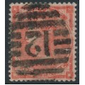 GREAT BRITAIN - 1862 4d bright red Queen Victoria, Emblems watermark, used – SG # 79