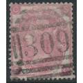 GREAT BRITAIN - 1865 3d rose Queen Victoria, Emblems watermark, used – SG # 92