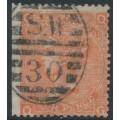 GREAT BRITAIN - 1869 4d vermillion Queen Victoria, Large Garter watermark, used – SG # 94